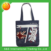 Factory direct pattern reusable large capacity foldable shopping bag in stock