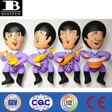 Promotional customized factory OEM pvc vinyl Beatles inflatable blow up famous cartoon dolls small celebrity dolls