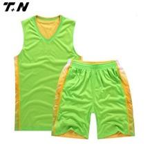 Mens youth sample basketball uniform design green