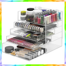 Modern acrylic stand makeup display for california wholesale distributors