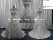 2012 The Most Popular Imported Quality Taffeta Beauty Besded Wedding Dress B1024
