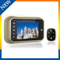 door entry video security Screen door bell viewer digital video door peephole camera with recorder