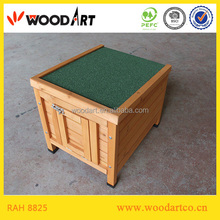Outdoor Wooden portable rabbit cage with rubber feet