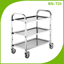 Stainless Steel 3 Tier Kitchen Dining Food Utility Trolley Cart