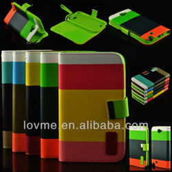 Leather Wallet Card Holder Flip Case Cover For Samsung Galaxy Note2 II N7100