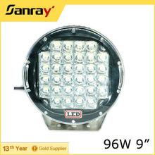 9inch 96w led work light Jeep led work lamp car lights led offroad SUV 4X4