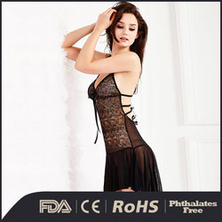 2016 Specifically designed black hot sexy backless costume fantasy cocktail dress with briefs