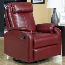Italy genuine leather swivel rocker ikea electric recliner chair