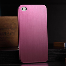 Thin Brushed Metal Cell Phone Cases for Iphone 4 Luxury Back Cover 100%