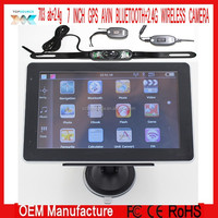 7 inch GPS NAVIGATION AVIN BT 4GB 2.4G WIRELESS BACKUP CAMERA GPS WIRELESS REARVIEW CAMERA