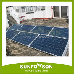 Flat Roof Aluminum PV Module Mounting Brackets for Home Solar