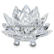 hermosa flor de loto de cristal