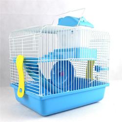 Hamster Gerbil Mouse Cage House 2 Storey Pet Nest bedroom Water Bottle Wheel Slide 28x21x31cm