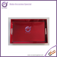 #18572 red plastic wholesale serving trays