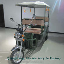 2015 CKD packing high powered electric tricycle passenger electric rickshaw for sale