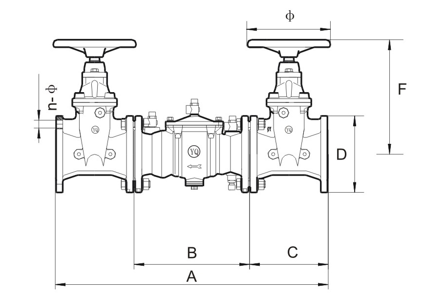 Backflow Preventer Dimensions Check Backflow Preventer