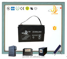 China manufacturer JL Brand 12v solar battey 12v 100ah deep cycle battery for solar and wind power storage