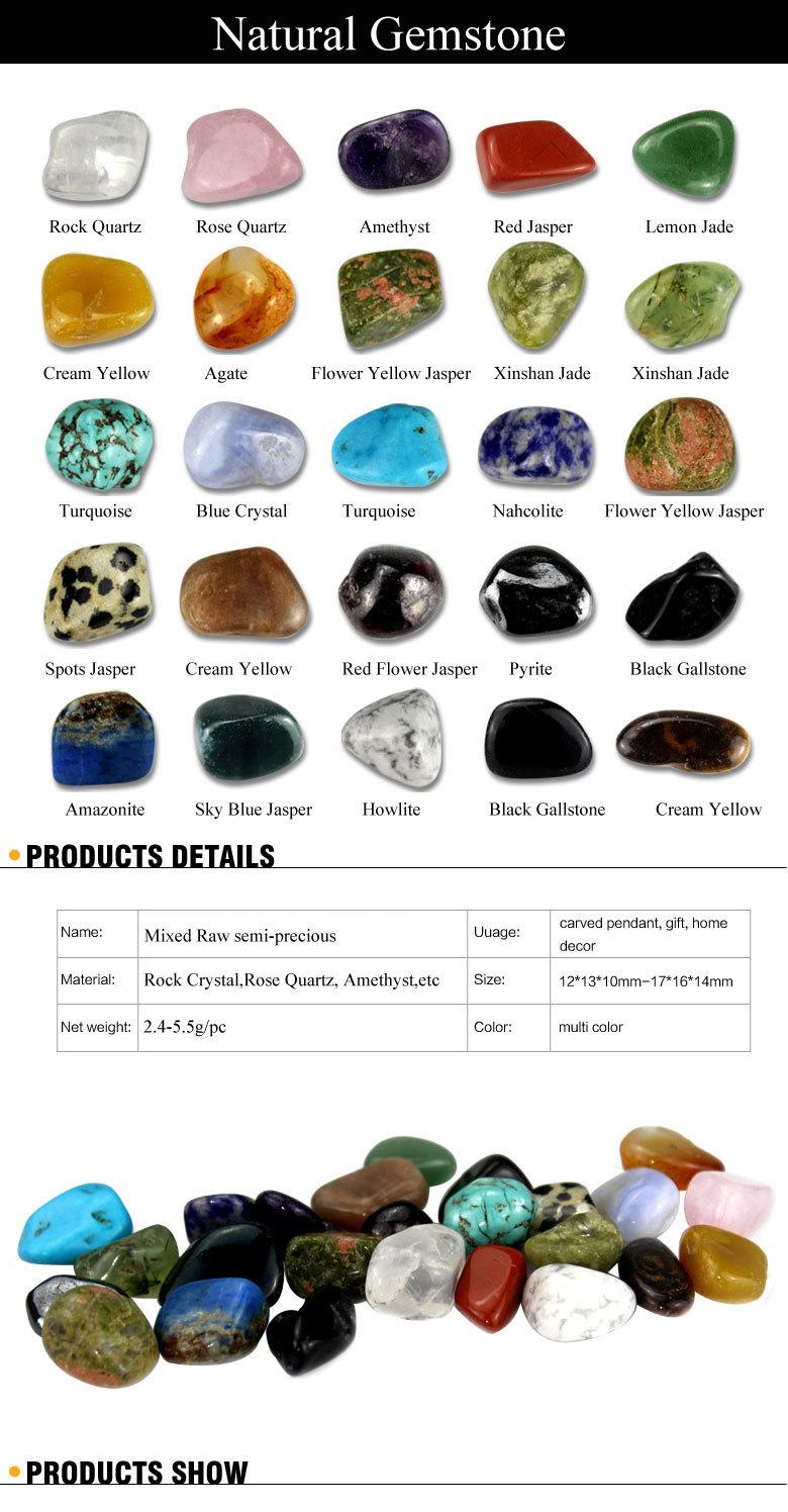 Wholesale wholesale 25 pieces box mixed natural rock for Bulk river rock for sale near me