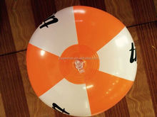 "Customized Factory sale PVC inflatable orange & white 18"" ball for USA market"