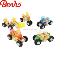 imagination cars for kids DIY Colorful Instrument Wholesale Wooden toys