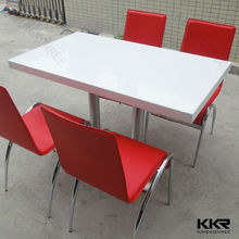 Acrylic solid surface artificial stone teacher table and chair