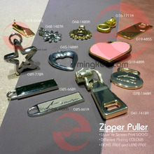 Custom epoxy zipper puller accessories for woman shoes