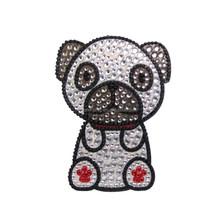 Poodle Dog Rhinestone Glitter Jewel Phone Sticker Decal