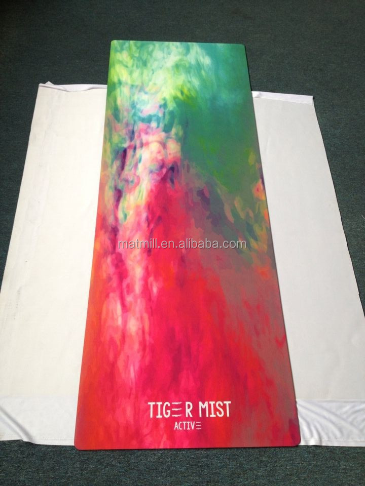 Custom photographic,vector diagram CMYK full color printed yoga mat,custom printed natural rubber yoga mat