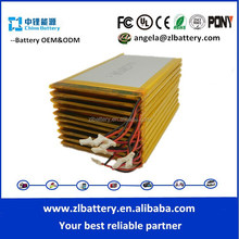 Li-Ion Type and 8.0mm T*34mm W*96mm L Size lithium battery