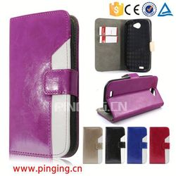 New arrival Two Colors Split joint Wallet Leather Cover for Fly IQ4501,for Fly IQ4501 Protector Case