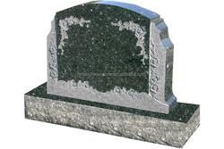 European style JK China/Hebei black granite stone design and customer style emerald pearl green granite monument