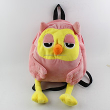 Good quality and cheap wholesale female owl plush bag