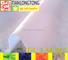polyester cotton blend sheets/55% cotton 45% polyester poplin fabric