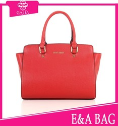 new arrival brand name 2014 red color business women handbag PU bag,woman handbag leather handbag from China