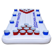 China supplier inflatable beer pong table plastic pool floating lounge beer pong raft floating lilo beer pong games