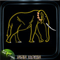 oro elefante rhinestone rhinestone transferencias para los zapatos