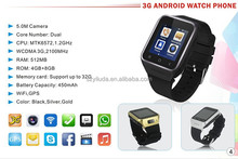 3g WCDMA android watch mobile phone/cellphone