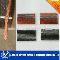Rubber string for tire sealing puncture