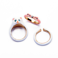 Fashion Women Wholesale Enamel Ring Set In stock