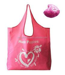 Heart design cheap stock shopping bag with zipper