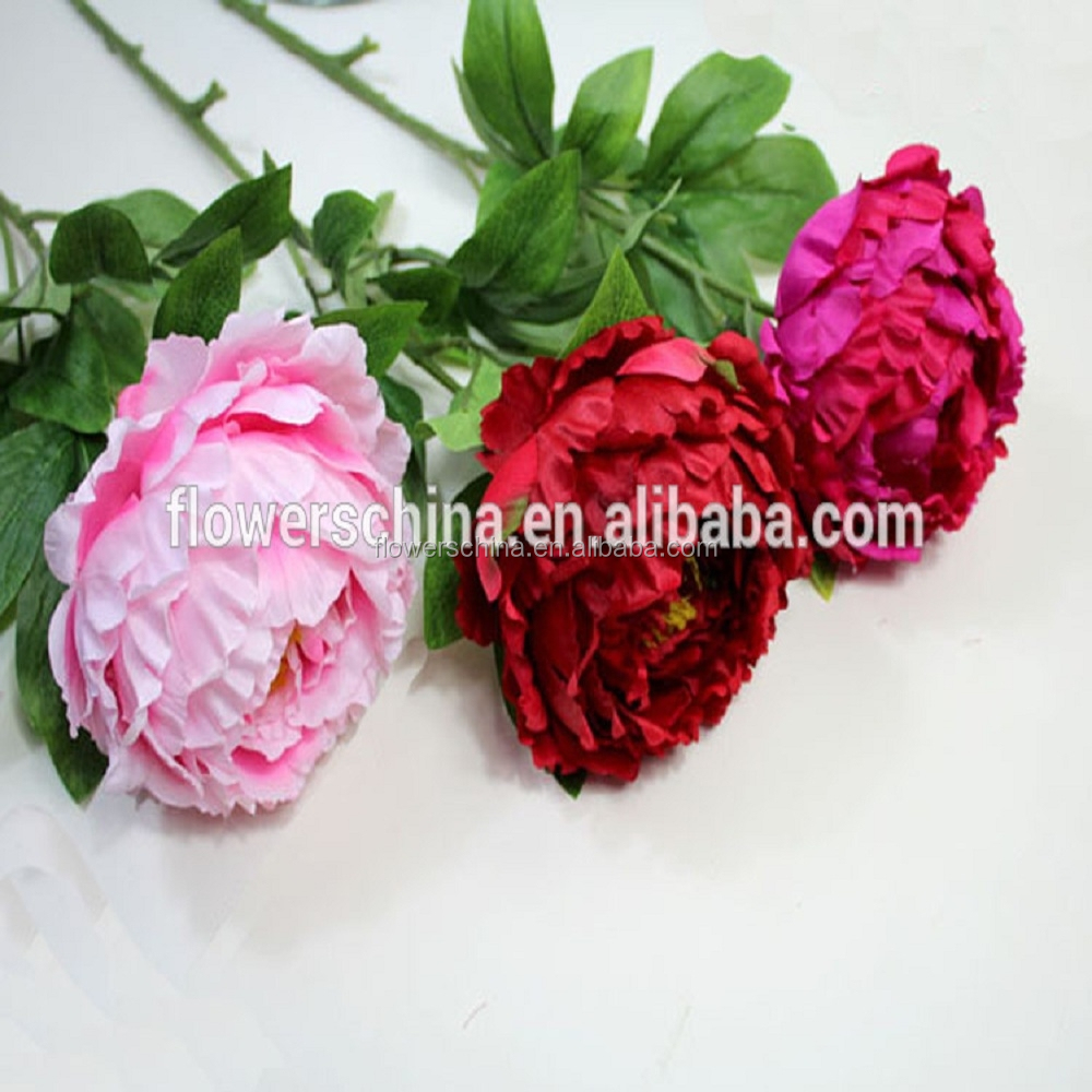 artificial peony flower real touch flowers wholesale for wedding decoration buy real touch. Black Bedroom Furniture Sets. Home Design Ideas