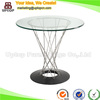 (SP-GT392) Design custom round glass top coffee table