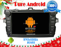 FOR Toyota Corolla 2007-2011 Android 4.2 car radio gps RDS,Telephone book,AUX IN,GPS,WIFI,3G,Built-in wifi dongle