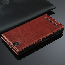 2015 New Black Shine Flip Leather Case For Sony Xperia Zr M36h Dogo C5502 C5503