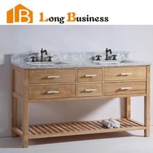 LB-DD2110 New Design Australia Oak Solid Wood Double Sink Bathroom Vanities