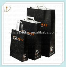 Flexo printing kraft paper bag for take away food,clothes,shopping