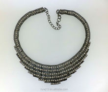 High quality clear crystal necklace chain types