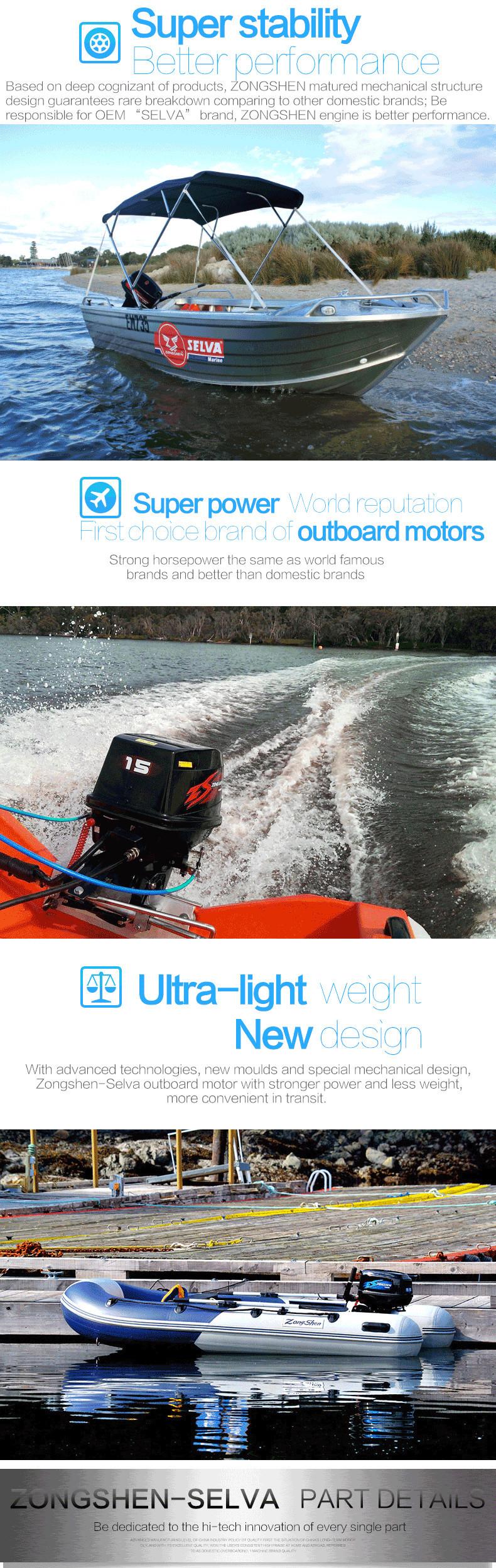 9.9hp/15hp/25hp/30hp/40hp Boat Engine Outboard Motor