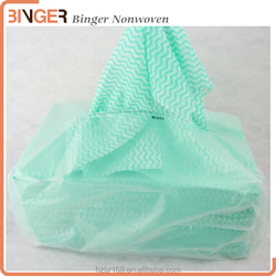 Viscose and Polyester kitchen wipe ,heavy duty non-woven cleaning cloth,Spunlace nonwoven fabric wipes