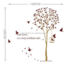 Mixed order tree and birds wall stickers home decoration